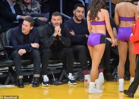 David Beckham na LA Lakers
