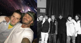 David Beckham a Brooklyn na koncertu The Stone Roses